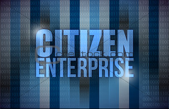 citizen enterprise business concept