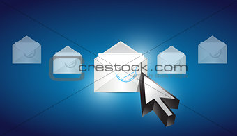 email envelope correspondence selected