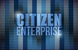 citizen enterprise business concept illustration