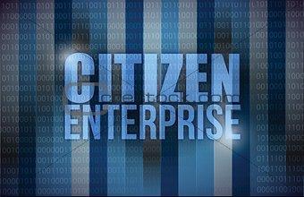 citizen enterprise business concept illustration