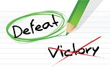 victory versus defeat