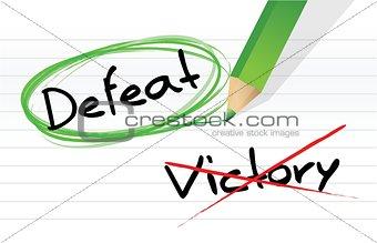 victory versus defeat