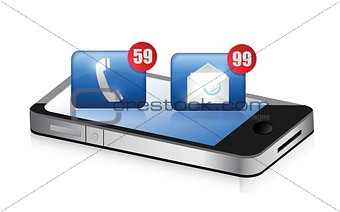 an smartphone receiving a lot of spam