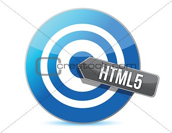 bullseye target internet html5 illustration