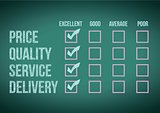 evaluate customer survey form illustration