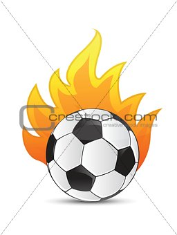 soccer Ball in fire