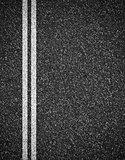 Asphalt road top view background