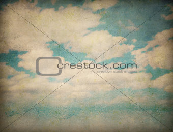 sky and clouds abstract grunge background