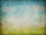 sky and grass abstract landscape grunge background