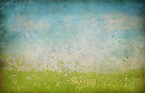 abstract landscape background with fresco paint pieces