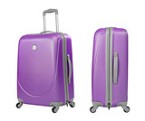 Violet suitcase or trunk isolated with clipping path included