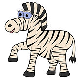 Zebra Cartoon Vector Illustration