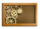 musical box gears background