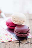 Macaroon and server