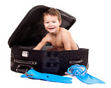 boy in the luggage