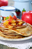 Rye pancakes with apples.