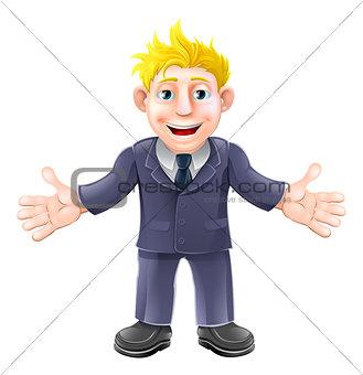 Blonde businessman cartoon