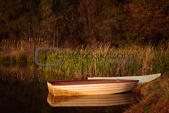 Tranquil fishing boat