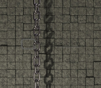 chain on stone background