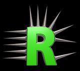 prickles letter r