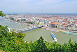 Budapest, Hungary. Top-view of Pest