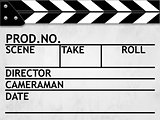 Clapper board or slate white board with texture 