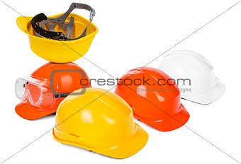 group of hard hats