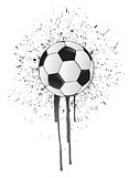 ink splatter soccer ball
