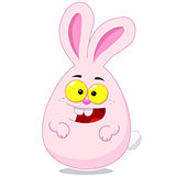 Easter egg shaped Easter bunny