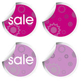 Purple stickers with sale