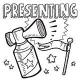 Presenting announcement sketch