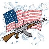 America loes assault rifles sketch