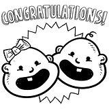 Congratulations baby sketch