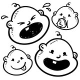 Baby emotions sketch