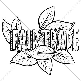 Fair trade food sketch