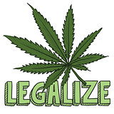 Legalize marijuana sketch