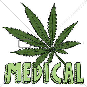 Medical marijuana sketch