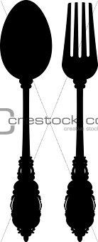 Cutlery (silhouette)
