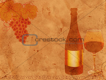 old-fashioned wine design