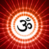 om symbol over rays