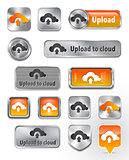 Collection of Upload to cloud metallic and glossy elements