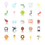 Social icons. People and sport vector icon