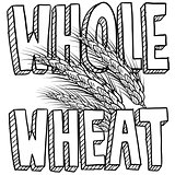 Whole wheat food label sketch