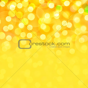 Golden holiday bokeh background