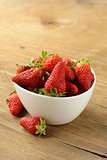 bowl with ripe fresh strawberries