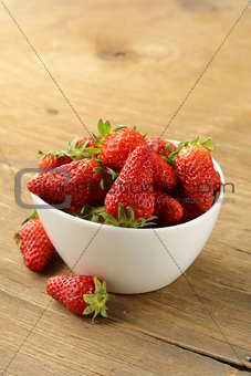 bowl with ripe fresh strawberries