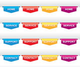 Color set of navigation labels
