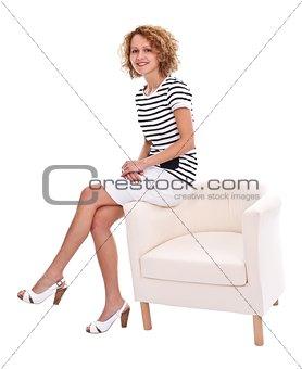 Elegant woman posing to camera