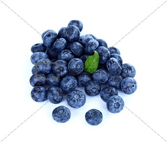 Heap of blueberries
