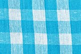 Blue checkered canvas as background